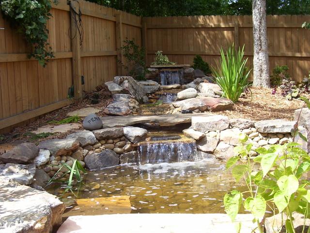 Pet Memorial Water Feature Eclectic Landscape