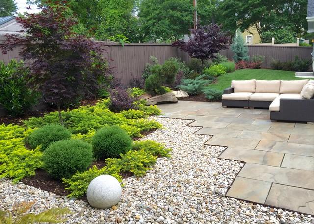Plaza Midwood Backyard contemporary-landscape