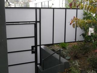 Plexiglass Fences Modern Landscape Los Angeles By