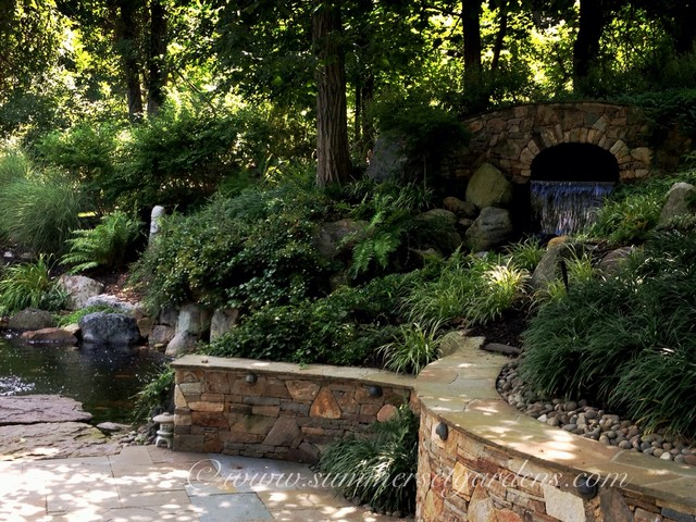 Pond Waterfall Amp Patio In Rockland County Eclectic