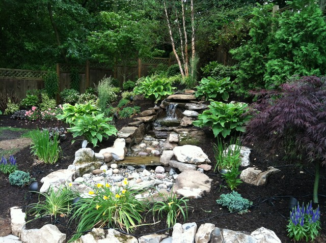 Pondless Water Feature Asian Exterior New York By Parker Homescape Llc