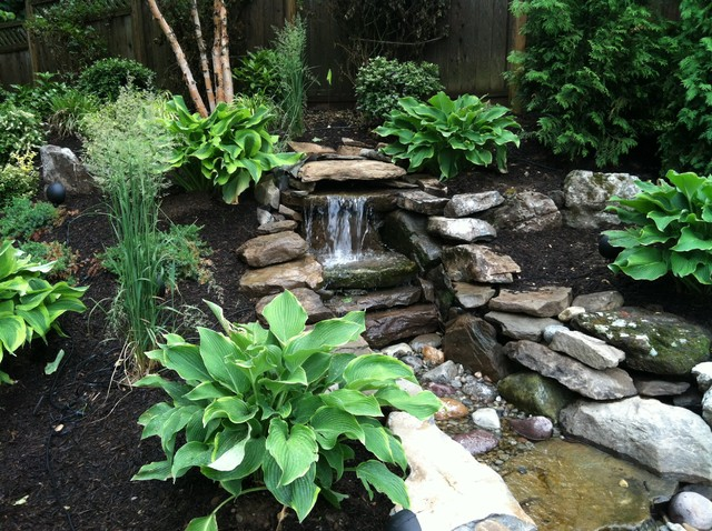 Pondless Water Feature Asian Landscape New York By Parker Homescape Llc