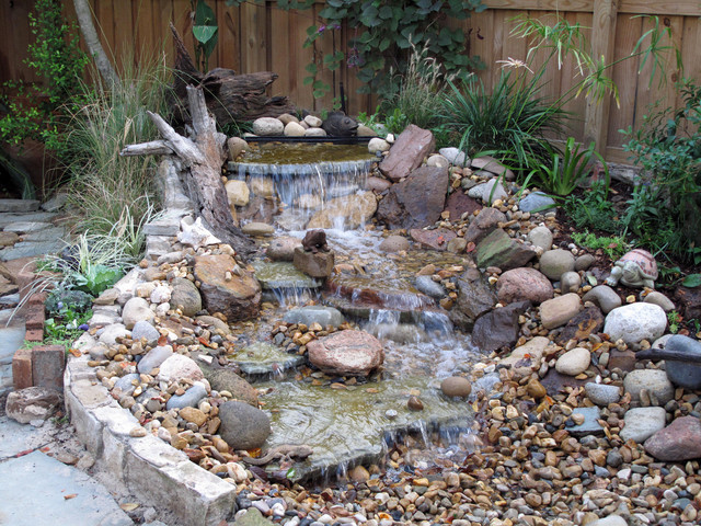 Pondless waterfall for Garden waterfall design