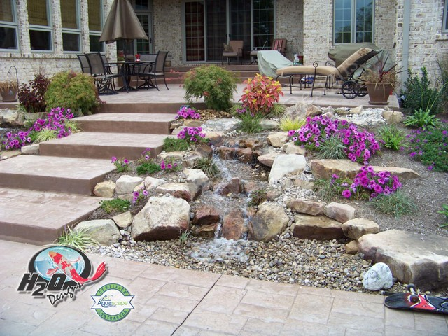 Pondless Waterfalls Ideas for your Kentucky Landscape eclectic-landscape