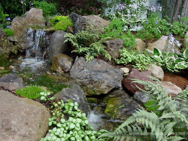 Pondless waterfalls water features rochester ny for Garden pond waterfalls for sale