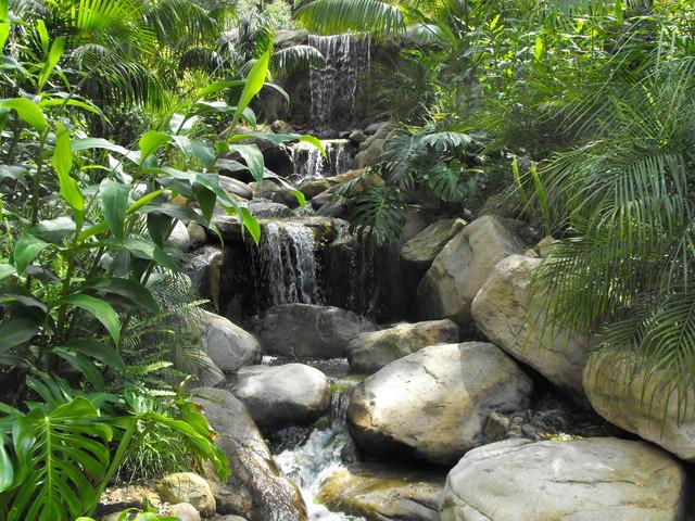 Ponds And Waterfalls Mediterranean Landscape Santa