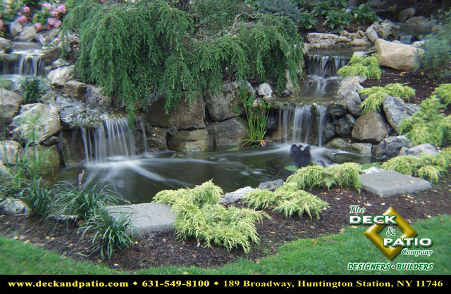 Ponds Waterfalls Water Features Water Gardens Traditional Landscape Other Metro By Deck