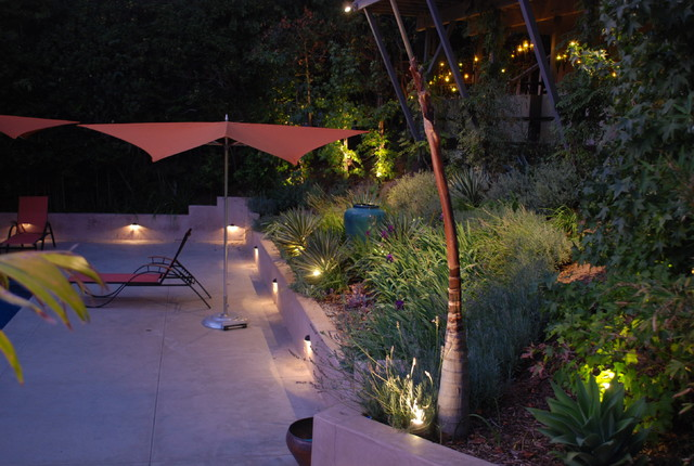 Pool Deck Lighting Contemporary Landscape Los Angeles