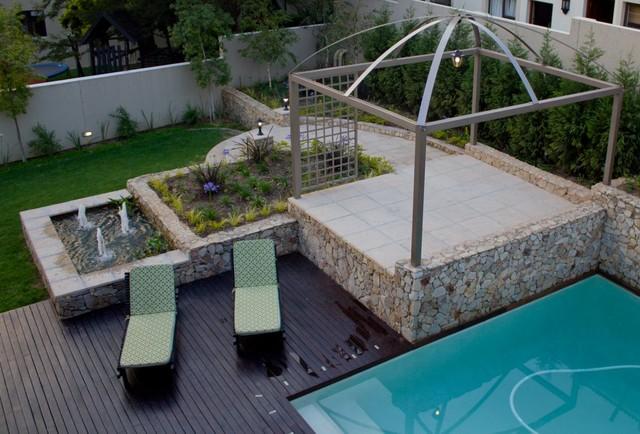 Pool garden - Rogers contemporary-landscape