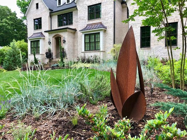 Pool-side Color Garden. contemporary-landscape