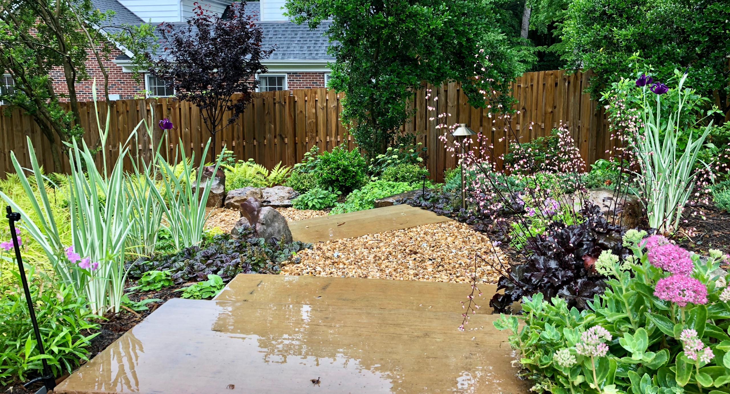 Pool-side Color Garden.