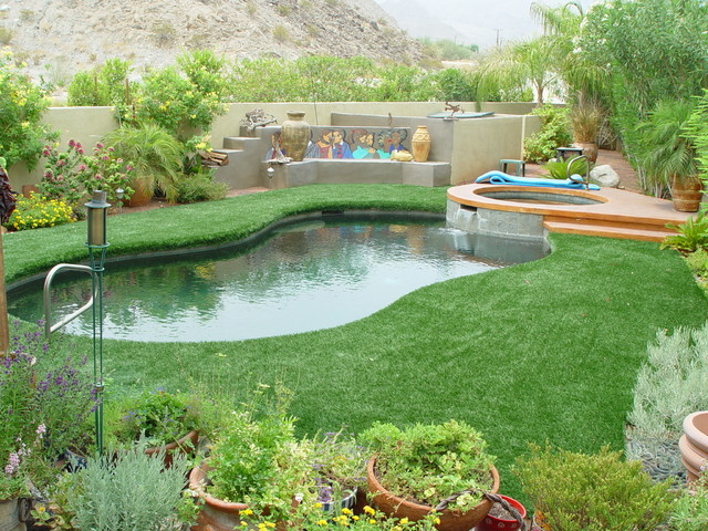 Poolside Landscaping Contemporary Landscape Other