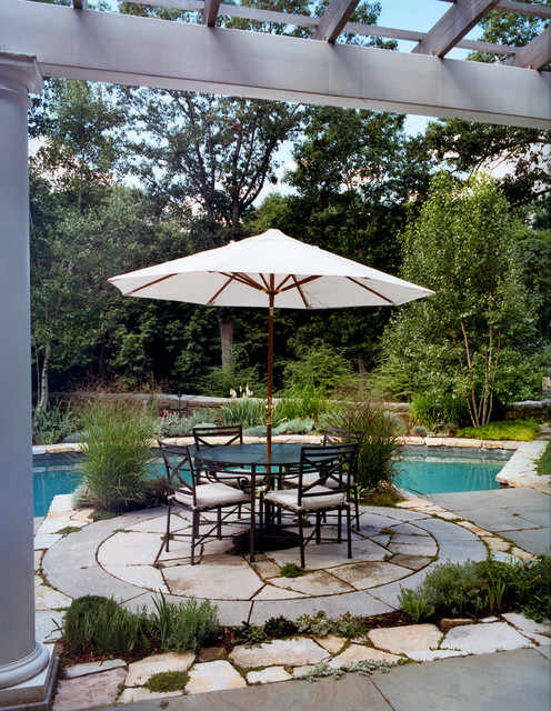 Poolside Patio traditional-landscape