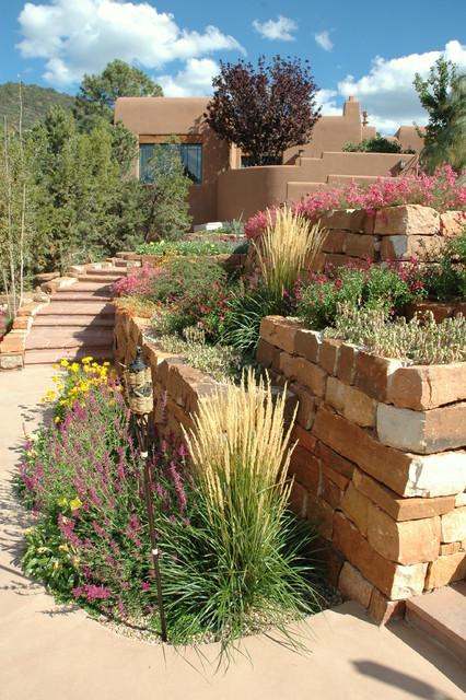 Poolside Retreat Southwestern Landscape Albuquerque