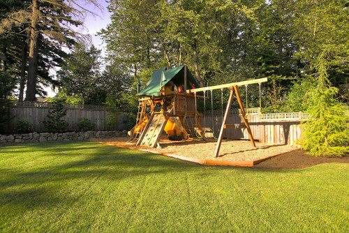 Charmant Growing Up, Our Aspirations To The Ultimate Backyard Playground Probably  Looked Like This. A Modest Slide, A Few Swings And A Sandbox U2014 What More  Could You ...