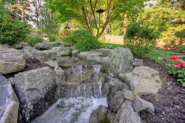 Portland landscaping outdoor living traditional for Paradise restored landscaping exterior design