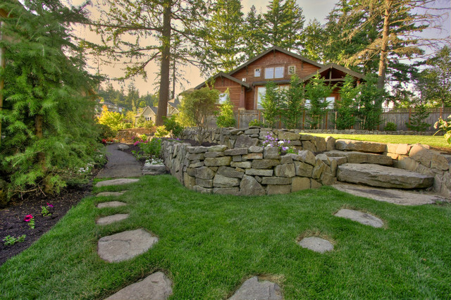 Portland Landscaping Outdoor Living rustic-landscape