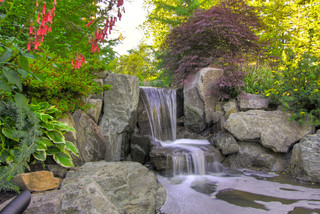 Rock Waterfall Ideas For Backyard Renovation Projects
