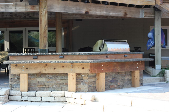Rustic Outdoor Kitchen Designs size 1280x720 simple outdoor kitchens rustic outdoor kitchen designs Post N Beam Outdoor Kitchen Rustic Landscape