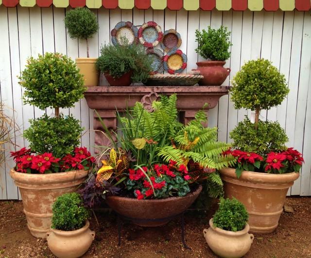 Potted arrangements at our Designs By Elizabeth storefront ...