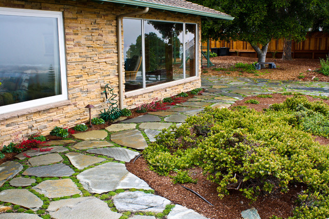 Prairie style home with award winning landscape for Prairie style garden design