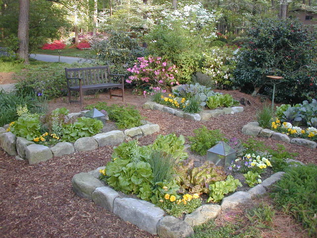 Pretty Organic Vegetable Garden In Front Yard Traditional Landscape At