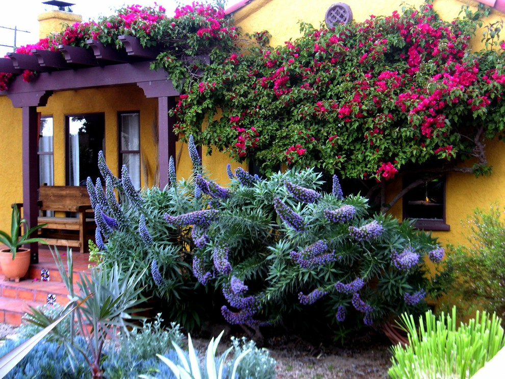 Inspiration for a mediterranean full sun front yard landscaping in Los Angeles.