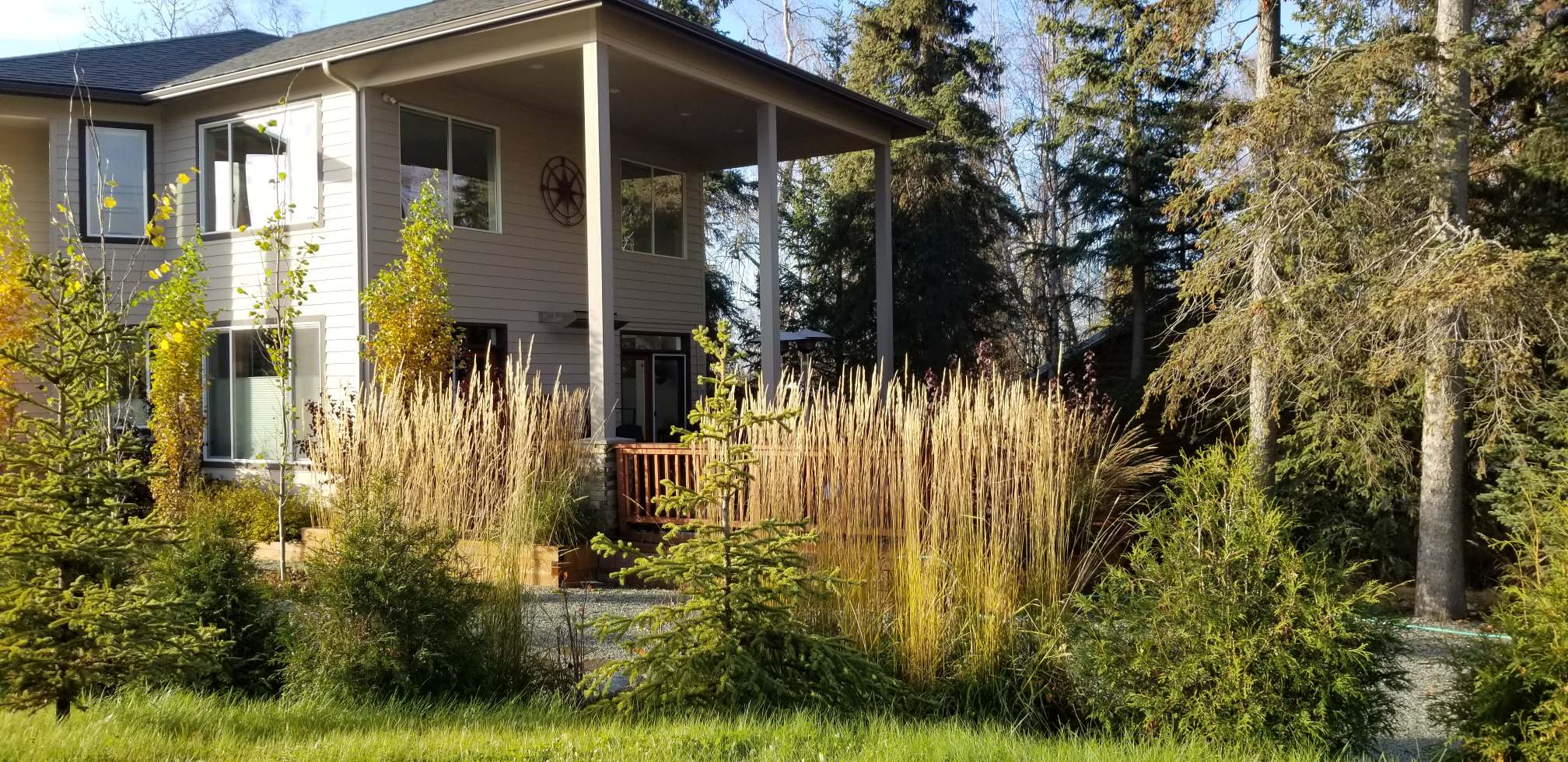 Privacy double frontage property Anchorage