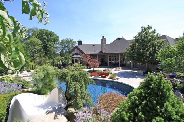 Private Luxury Estate for Sale in Medina, Ohio traditional-landscape