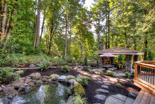 Private Paradise Portland Landscaping - Rustic - Landscape - portland - by Paradise Restored ...