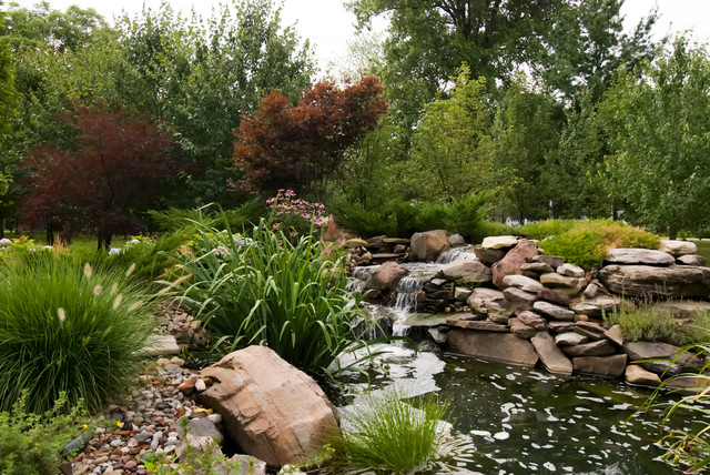 Private Residence-Water Feature traditional-landscape