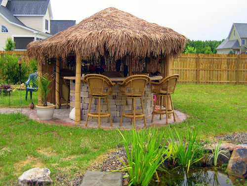 Backyard Tiki Bar Ideas : Tropical Landscape by Cary Landscape Architects & Designers Vedic
