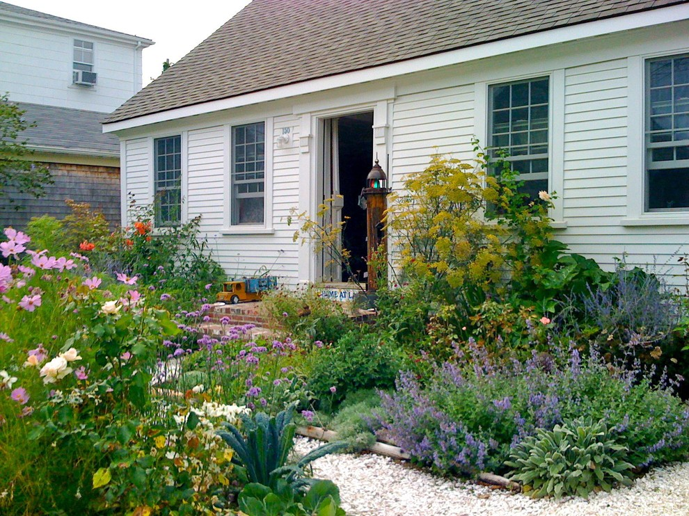 This is an example of a traditional vegetable garden landscape in Boston.