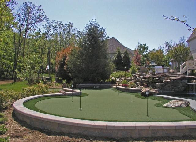 Design Ideas For A Huge Contemporary Full Sun Backyard Outdoor Sport Court  In DC Metro.