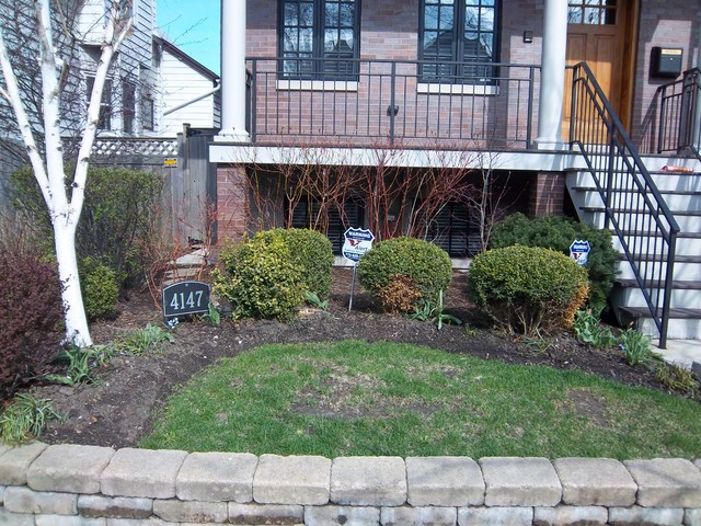 Raised bed in Lakeview contemporary-landscape