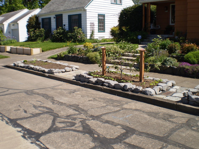 Raised Flower beds traditional-landscape