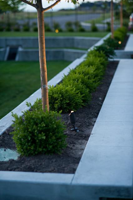 Raised Planter traditional-landscape