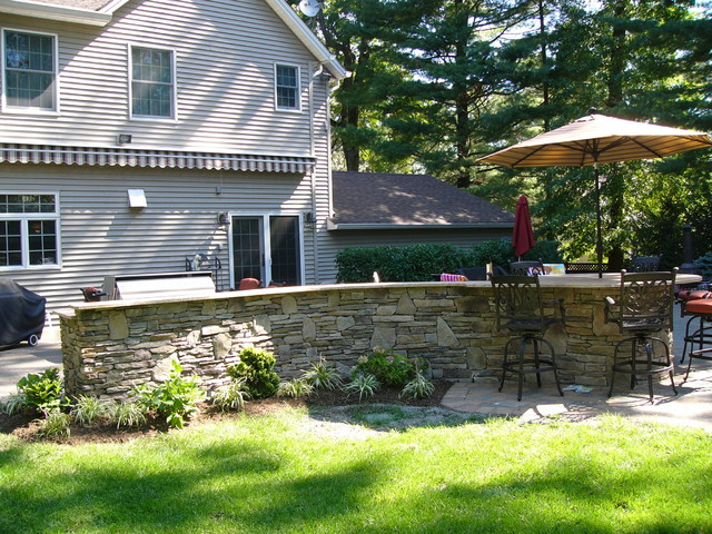 Ramsey nj outdoor kitchen traditional landscape new for Outdoor kitchen designs nj