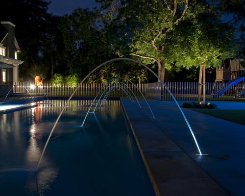 6 pool lighting trends for your backyard pool australian for Pool jets design