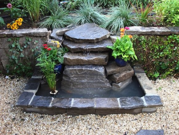 Ray johannes landscape design toronto ponds fountains for Small pond fountains