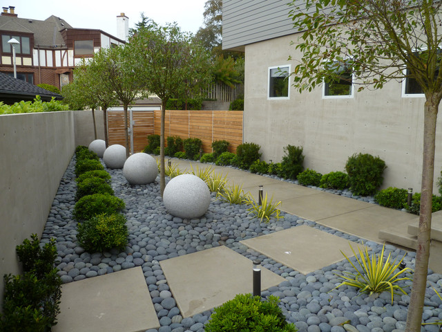 contemporary landscape by folia horticultural design - Garden Design Using Stones