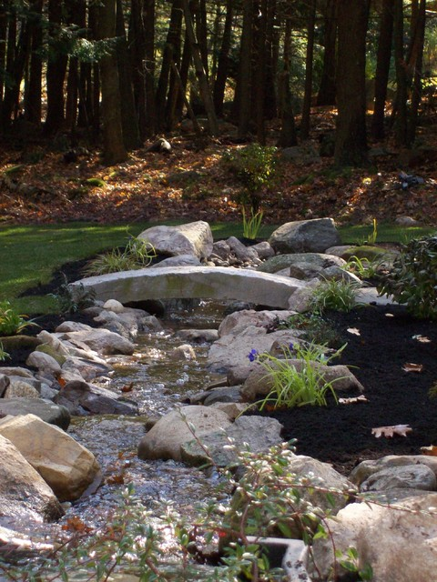 Reclaimed Granite Curbing As Landscape Accent traditional-landscape