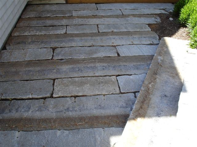 Reclaimed Granite Curbing - Traditional - Landscape - New