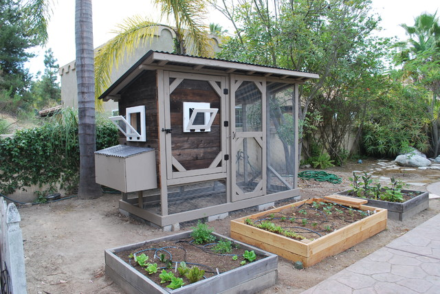Reclaimed Wood Chicken Coop - Traditional - Landscape - san diego - by ...