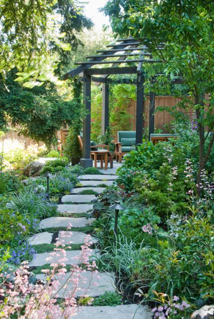 A Garden for Entertaining craftsman-landscape