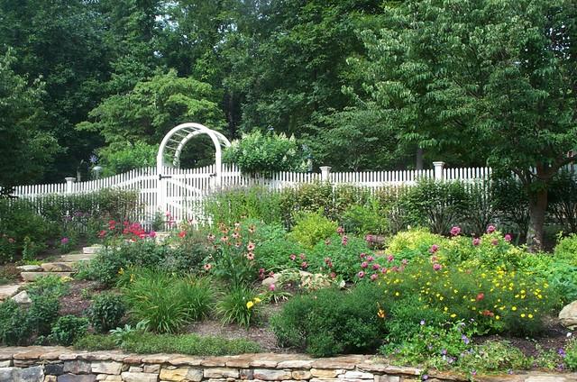 Renovation of perennial border, redoing front walk traditional-landscape
