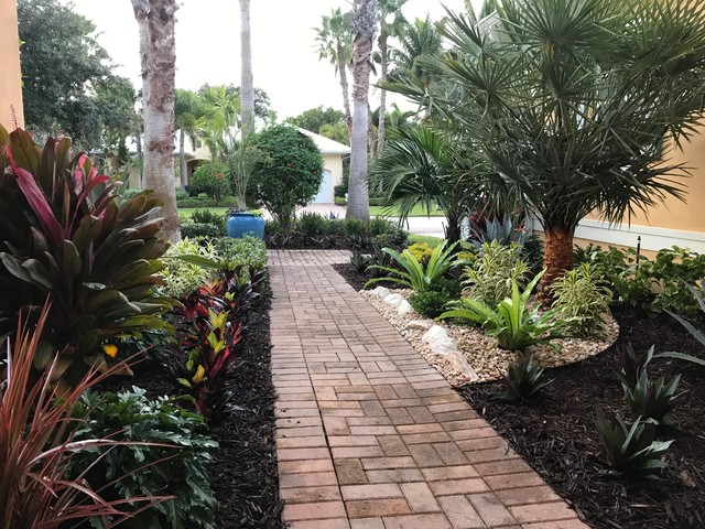 Residential Landscape Design Tropical Garden Orlando By Construction Landscape Llc Houzz Uk,Workplace Industrial Office Design Ideas