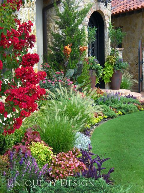 Residential landscape designs perennial annual for Annual garden designs