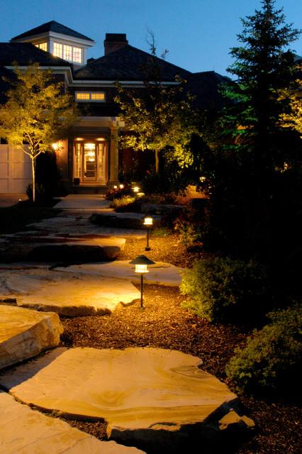 Residential Landscape Lighting Landscape Salt Lake City By Brite Nites Inc