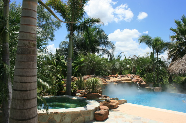Residential Pool Landscaping And Palapa Tropical